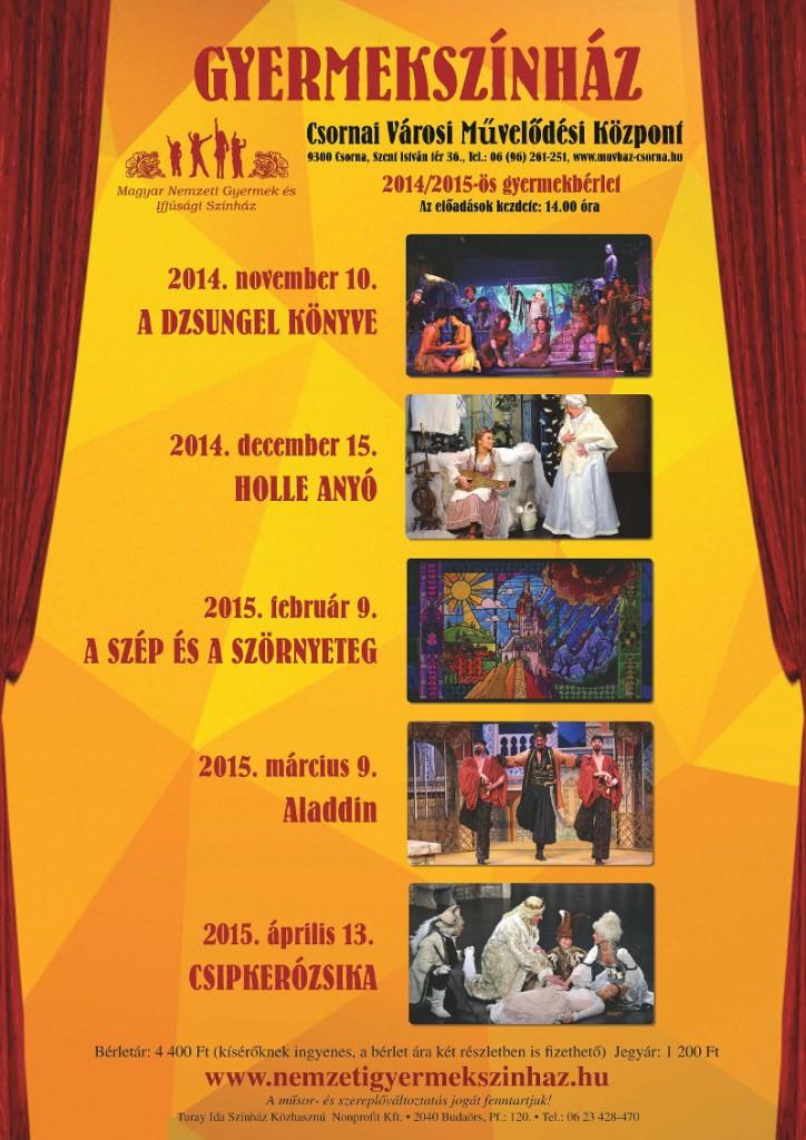 Színházbérlet gyerekeknek 2014-15 PLAKAT
