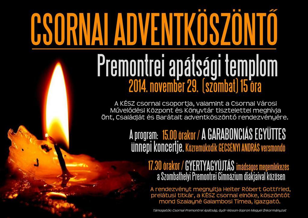 Csornai Adventköszöntő