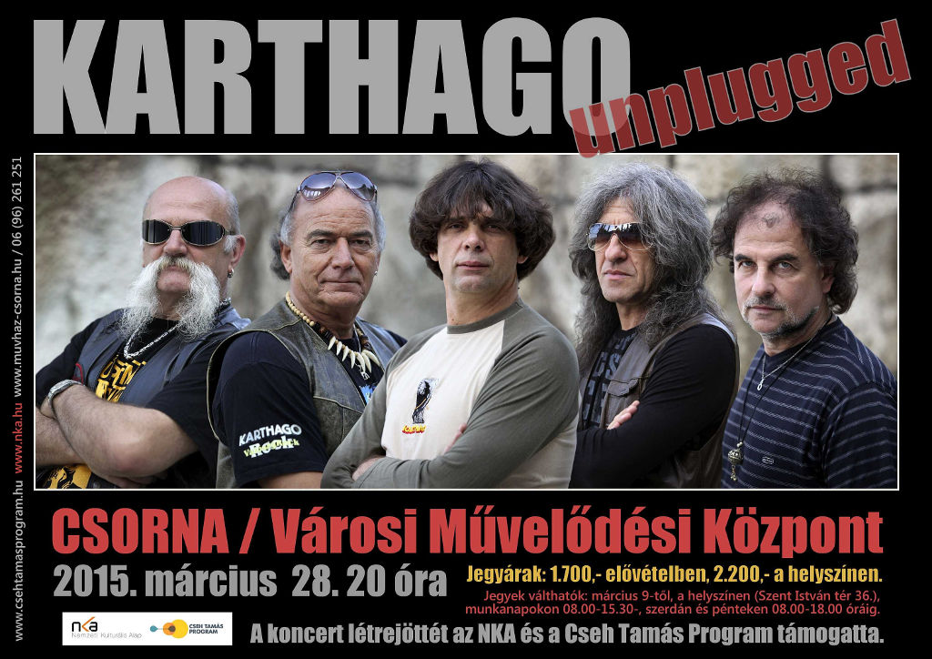 KARTHAGO unplugged CSORNA, 2015.03.28
