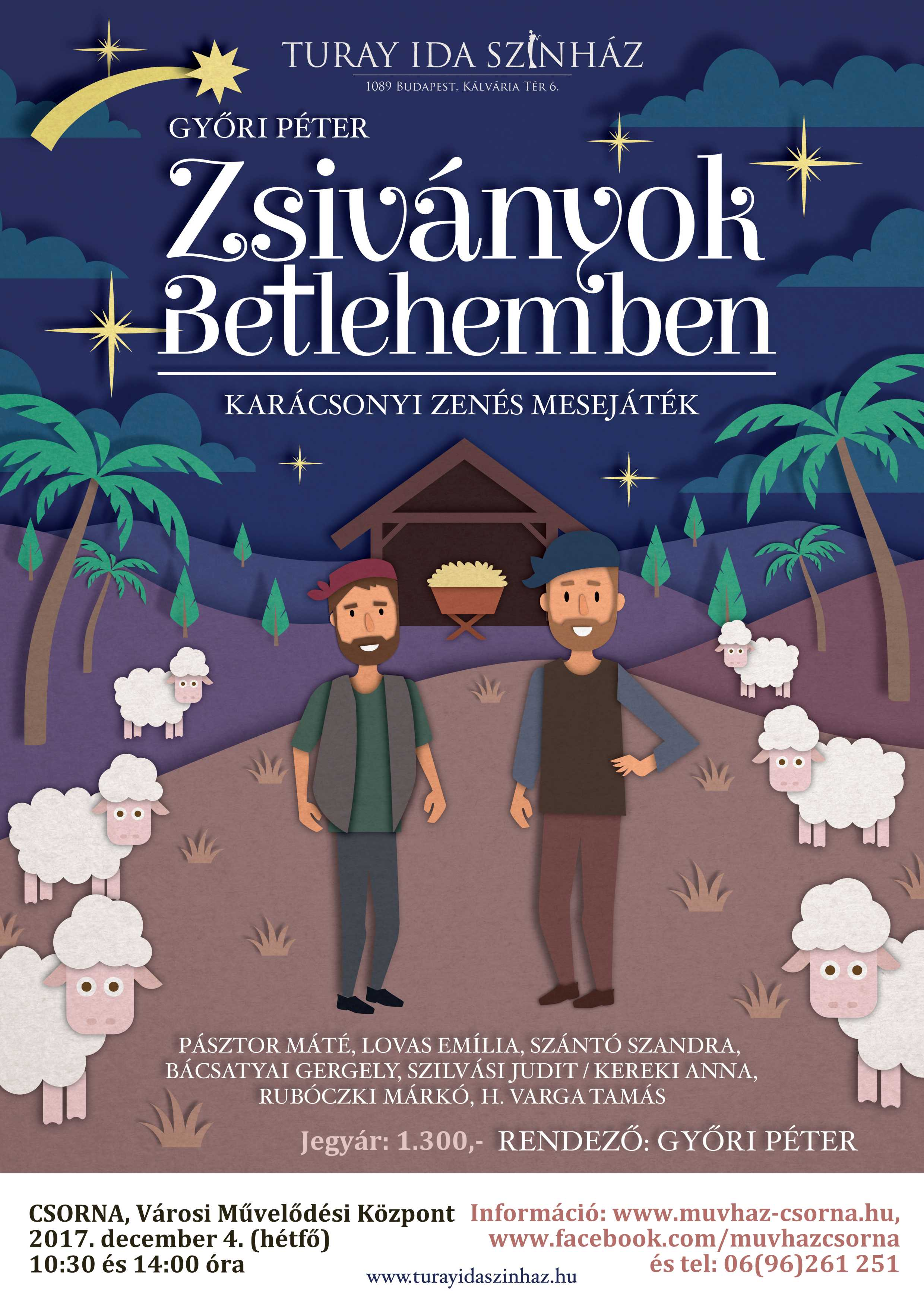 Zsiványok Betlehemben plakát